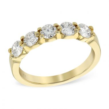 Allison Kaufman 14k Yellow Gold Diamond Anniversary Wedding Band