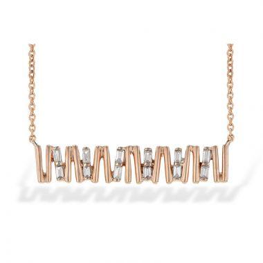 Allison Kaufman 14k Rose Gold Diamond Necklace